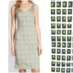 Tory Burch Silk Squares Sleeveless Sheath Dress